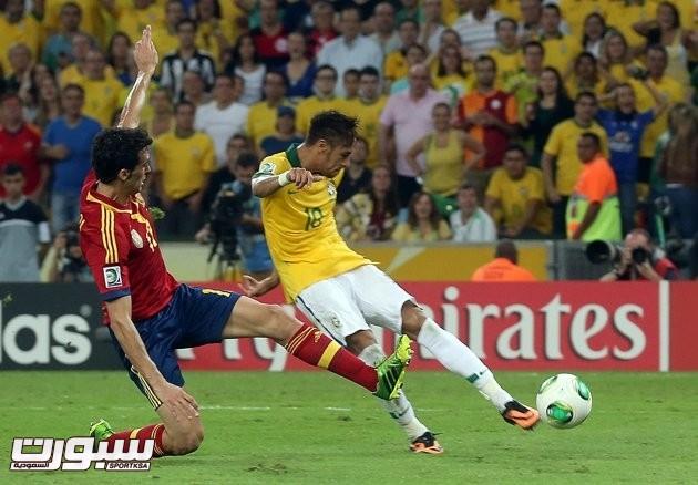 نيمار البرازيل اسبانيا
