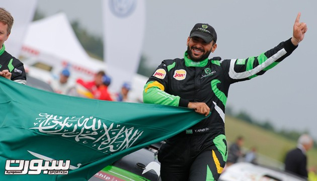 WRC - POLAND RALLY 2014 - 31 Yazeed Al-Rahji, Michael Orr, Ford Fiesta RRC, ambiance podium PHOTO : AUSTRAL
