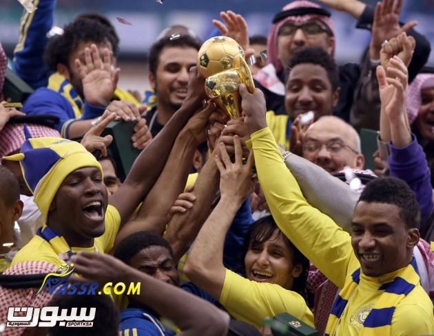 """تتويج النصر """"صورة عن الموقع الرسمي للنادي"""""""