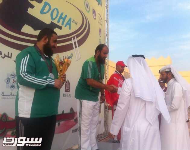 تتويج المنتخ السعودي للرماية الاول