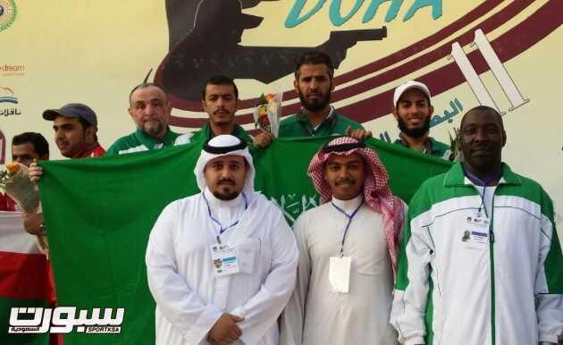 صورة لتتويخ المنتخب السعودي للرماية