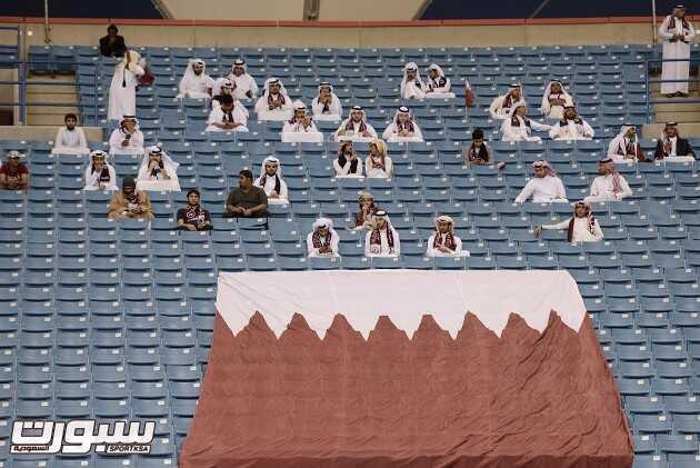 الجمهور في مباراة السعودية و قطر