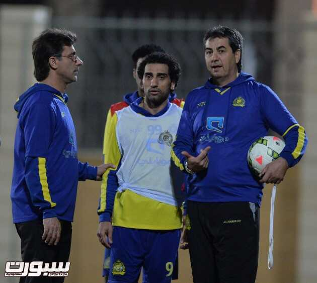 بالصور | النصر يستعد لمواجهة الدرعية غداً بدون جمهور