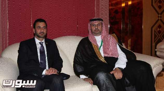الأمير عبدالله بن مساعد يجتمع بوزير الشباب والرياضة العراقي