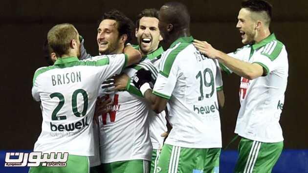 سانت إتيان ثالثا وفوز رابع لرين في الدوري الفرنسي