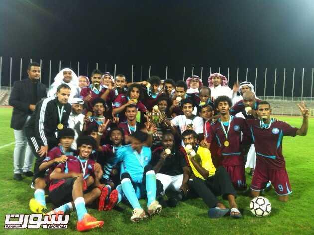 فريق الليث يحقق كأس مكتب منطقة مكة المكرمة