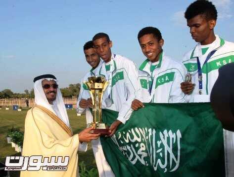 المنتخب السعودي حامل لقب البطولة السابقة