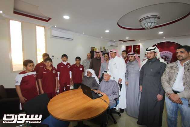 أمين هيئة أعضاء الشرف بالفيصلي يدشن موقع النادي