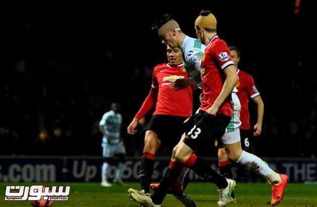 مانشستر يونايتد يهزم يوفيل ويواصل مشواره في الكأس