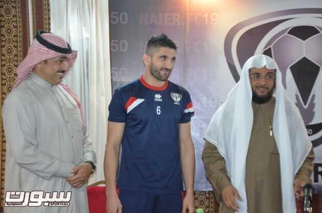 """إدارة نادي هجر تقيم احتفالية خاصة بمناسبة إسلام لاعب الفريق """"جورجي"""""""