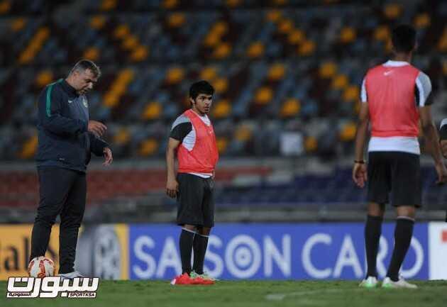تدريبات المنتخب السعودي 18 يحيى الشهري