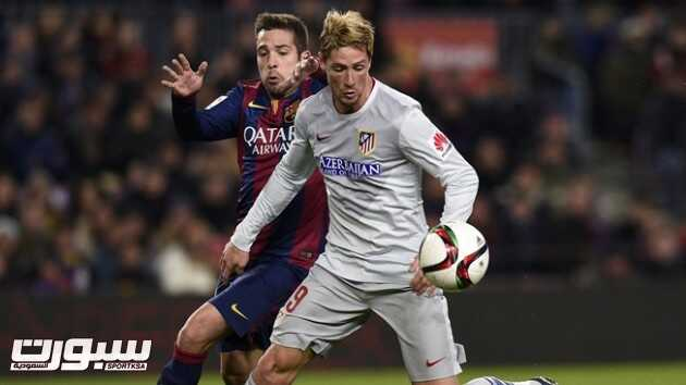 أتلتيكو مدريد يأمل التفوق على برشلونة في إياب كأس الملك