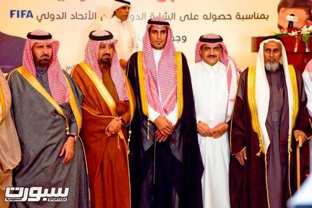 مجدوع ومحافظ الخرج الشيخ شبيلي بجوار الحكم محمد القرني