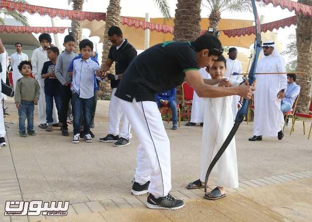 اصغر رامي شارك في الفقرة الأستعراضية للسهام