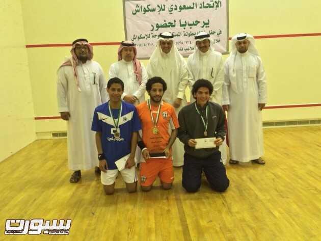 هجر يفوز بالمركز الأول في بطولة المملكة للإسكواش