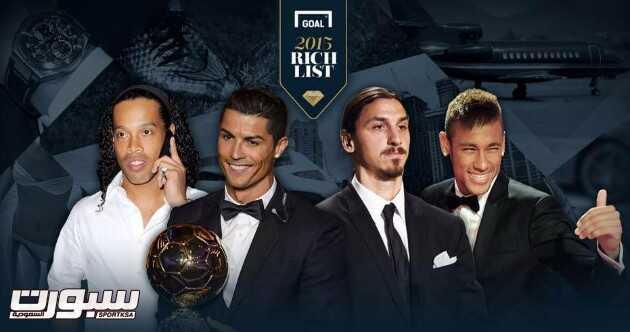 رونالدو يتصدر قائمة أغنى لاعب كرة قدم في العالم