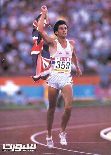 سيباستيان كو عندما حقق ذهبية اولمبياد لوس انجلوس في سباق 1500م