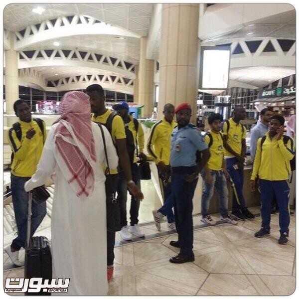 بعثة النصر تنتظر في مطار الملك خالد الدولي