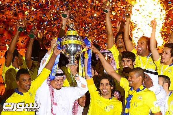 النصر بطل كأس دوري جميل
