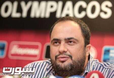 فانجليس ماريناكيس رئيس نادي اولمبياكوس في صورة من ارشيف رويترز