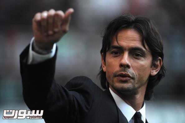 MILAN, ITALY - AUGUST 29:  Filippo Inzaghi of AC Milan attends during the Serie A match between AC Milan and Inter Milan at Stadio Giuseppe Meazza on August 29, 2009 in Milan, Italy.  (Photo by Valerio Pennicino/Getty Images)