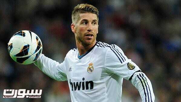 MADRID, SPAIN - SEPTEMBER 30: Sergio Ramos of Real Madrid CF holds the ball during the La Liga match between Real Madrid CF and RC Deportivo La Coruna at Bernabeu on September 30, 2012 in Madrid, Spain.  (Photo by Gonzalo Arroyo Moreno/Getty Images)