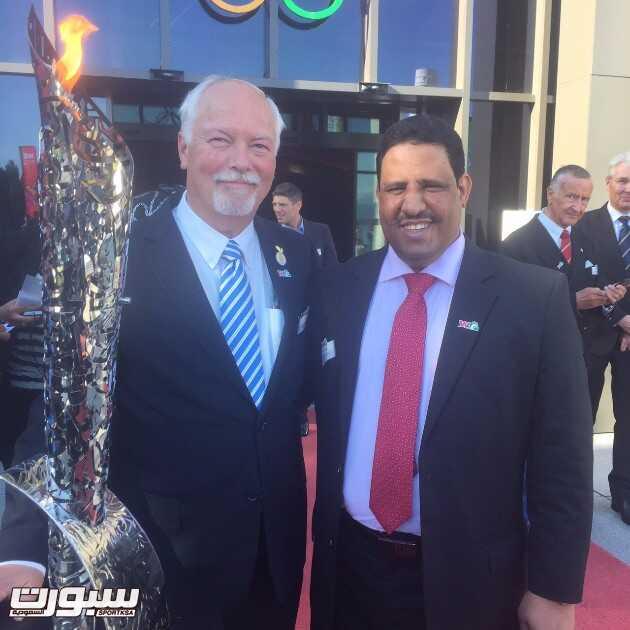 الدكتور مبارك السويلم  مع رئيس الاتحاد الدولي الدكتور جون
