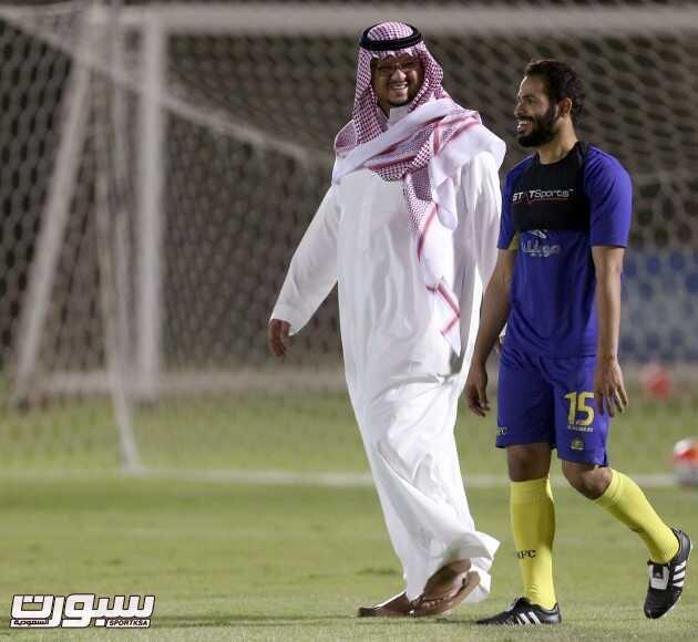 الامير فيصل بن تركي و احمد الفريدي تدريبات النصر (350103700) 
