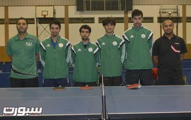 لاعبو المنتخب السعودي لكرة الطاولة في صورة جماعية