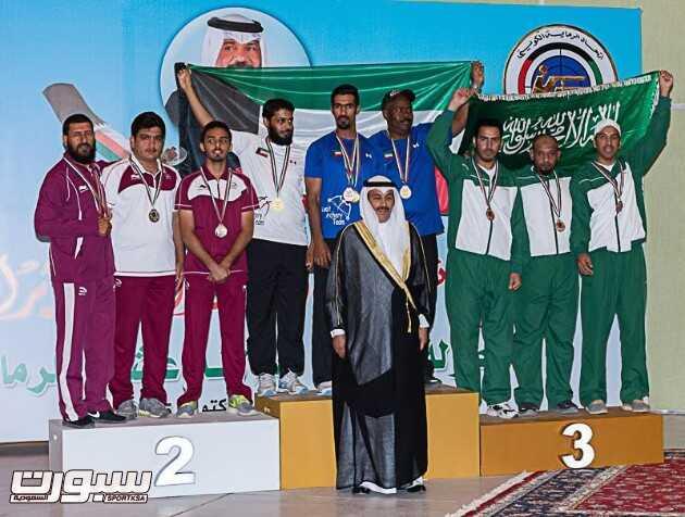 المنتخب السعودي للسهام توج ببرونزية منافسات قوس البكره للفرق