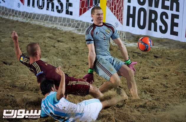 Dubai, United Arab Emirates  -  November, 03   Samsung Beach Soccer Intercontinental Cup Dubai 2015 at Dubai International Marine Club on November 03, 2015 in Dubai, United Arab Emirates. (Photo by Lea Weil)