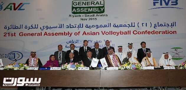 سمو الرئيس العام يحضر افتتاح اجتماع الجمعية العمومية للاتحاد الاسيوي لكرة الطائره=4