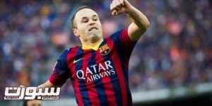 BARCELONA, SPAIN - MARCH 16: Andres Iniesta of FC Barcelona celebrates after scoring his team's third goal during the La Liga match between FC Barcelona and CA Osasuna at Camp Nou on March 16, 2014 in Barcelona, Spain. (Photo by Alex Caparros/Getty Images)