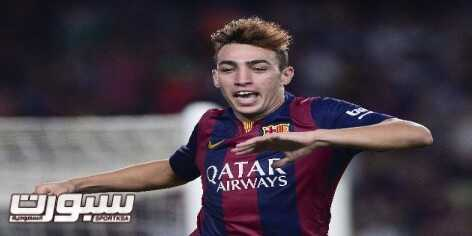 Barcelona's forward Munir celebrates after scoring during the Spanish league football match FC Barcelona vs Elche CF at the Camp Nou stadium in Barcelona on August 24, 2014. AFP PHOTO/ JOSEP LAGO        (Photo credit should read JOSEP LAGO/AFP/Getty Images)