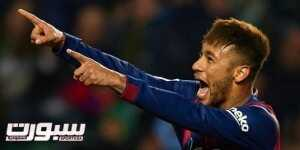 ELCHE, SPAIN - JANUARY 24:  Neymar JR of Barcelona celebrates after scoring during the La Liga match between Elche FC and FC Barcelona at Estadio Manuel Martinez Valero on January 24, 2015 in Elche, Spain.  (Photo by Manuel Queimadelos Alonso/Getty Images)