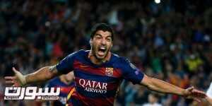 Barcelona's Luis Suarez celebrates after scoring a goal against Bayer Leverkusen during their Champions League group E soccer match at Camp Nou stadium in Barcelona, Spain, September 29, 2015.      REUTERS/Sergio Perez