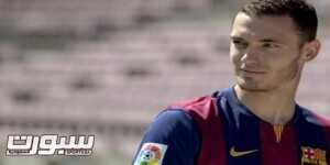 FC Barcelona's new Belgian defender Thomas Vermaelen poses during his official presentation at the Camp Nou stadium in Barcelona on August 10, 2014. Barcelona finally won the race to sign Arsenal defender Thomas Vermaelen. The Spanish club had been battling with Manchester United for the Belgium international's signature over the last few weeks and Luis Enrique's team got their man for a reported fee of £15 million (25 million USD).  AFP PHOTO / JOSEP LAGO        (Photo credit should read JOSEP LAGO/AFP/Getty Images)