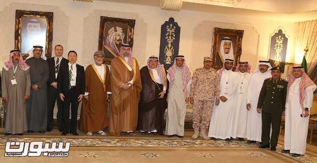 الرئيس العام لرعاية الشباب خلال استقباله لرؤساء لجان المنشطات الخليجية