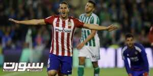 Football Soccer - Real Betis v Atletico Madrid - Liga BBVA - Benito Villamarin - 22/11/2015 Atletico Madrid's Koke celebrates after scoring against Real Betis Reuters/Marcelo del Pozo
