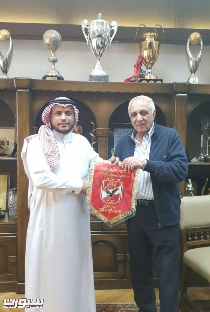 1 الشهري مع المدير التنفيذي بالنادي الاهلي المصري اللواء شيرين شمس