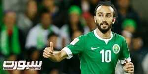 Saudi Arabia's Mohammed Al-Sahlawi celebrates his goal from a penalty kick during their Asian Cup Group B soccer match against Uzbekistan at the Rectangular stadium in Melbourne January 18, 2015. REUTERS/Brandon Malone (AUSTRALIA  - Tags: SOCCER SPORT)   - RTR4LUZO