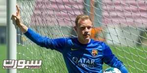 BARCELONA, SPAIN - MAY 22:  Marc-Andre Ter Stegen poses for the media during his presentation as new goalkeeper of FC Barcelona at Camp Nou on May 22, 2014 in Barcelona, Spain.  (Photo by David Ramos/Getty Images)