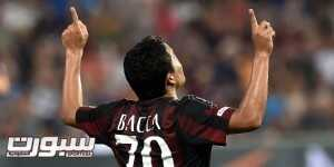 REGGIO NELL'EMILIA, ITALY - AUGUST 12:  Carlos Bacca Ahumada of Milan celebrates after scoring to make it 2-0 during the TIM pre-season tournament match between AC Milan and FC Internazionale at Mapei Stadium - Città del Tricolore on August 12, 2015 in Reggio nell'Emilia, Italy.  (Photo by Giuseppe Bellini/Getty Images)