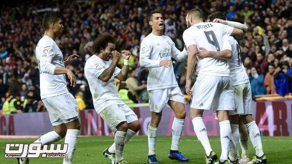 فرحة فريق ريال مدريد
