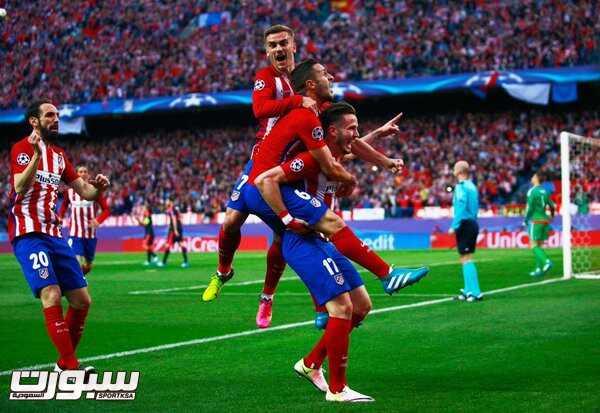 فرحة فريق اتلتيكو مدريد (1)