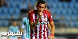 Atletico Madrid's Uruguayan defender Jose Maria Gimenez celebrates after scoring during the Trofeo Carranza football match Atletico de Madrid vs Betis at the Ramon de Carranaza stadium in Cadiz on August 15, 2015. AFP PHOTO / CRISTINA QUICLER        (Photo credit should read CRISTINA QUICLER/AFP/Getty Images)
