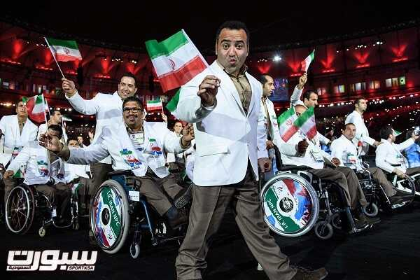 Members of Iran's delegation enter during the opening ceremony of the Rio 2016 Paralympic Games at the Maracana stadium in Rio de Janeiro on September 7, 2016. / AFP PHOTO / YASUYOSHI CHIBAYASUYOSHI CHIBA/AFP/Getty Images ** OUTS - ELSENT, FPG, CM - OUTS * NM, PH, VA if sourced by CT, LA or MoD **