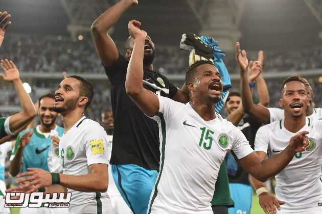 صور من فرحة لاعبي المنتخب السعودي بالفوز على العراق ( عدسة مهران البركاتي )