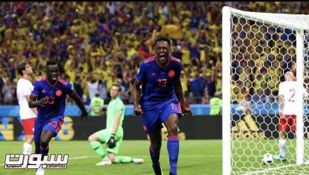 صور من لقاء كولومبيا و بولندا – مونديال كأس العالم