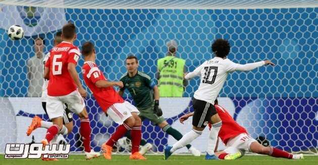 صور من لقاء مصر و روسيا – مونديال كأس العالم